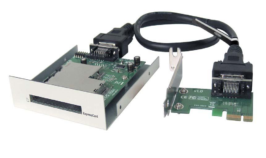pcie to expresscard 34 54 bay 1 slot card drive adapter for